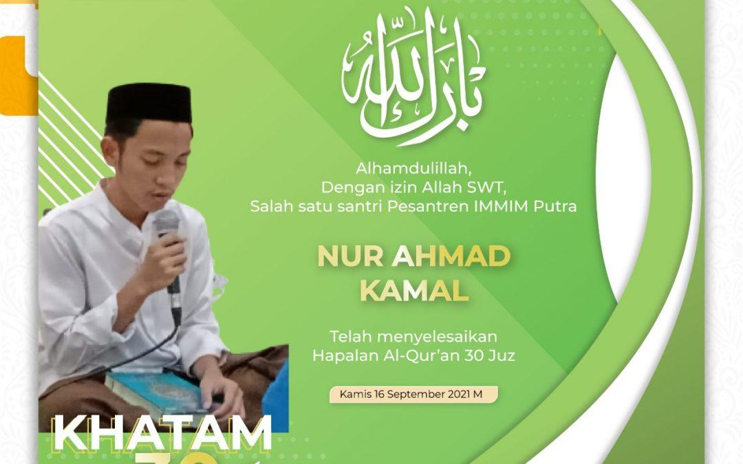 Alhamdulillah dengan Waktu 11 Bulan 9 Hari Santri IMMIM Menyelesaikan Hapalan Al Qur'an 30 Juz